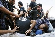 Crackdown on Fatah demonstrators in Gaza - (Courtesy of Miftah)